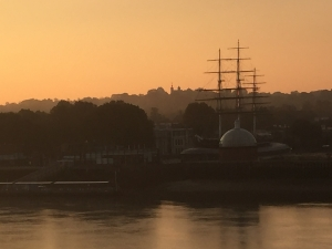 Our view over the Thames looking over to the Cutty Sark and Greenwich